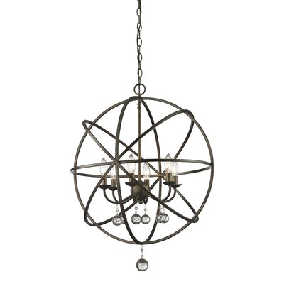 Leonora 6-Light Foyer Pendant Base Finish: Golden Bronze