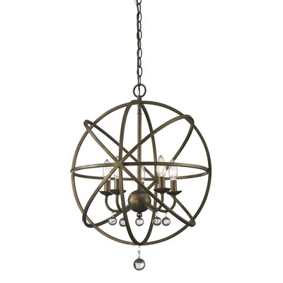 Broyhill 5-Light Foyer Pendant Base Finish: Golden Bronze