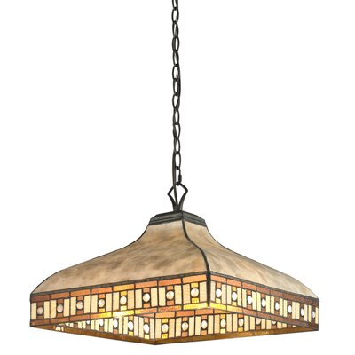 Crimson 3-Light Pendant Shade Color: White