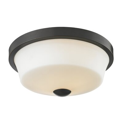 Seeber 2-Light Flush Mount Finish: Coppery Bronze