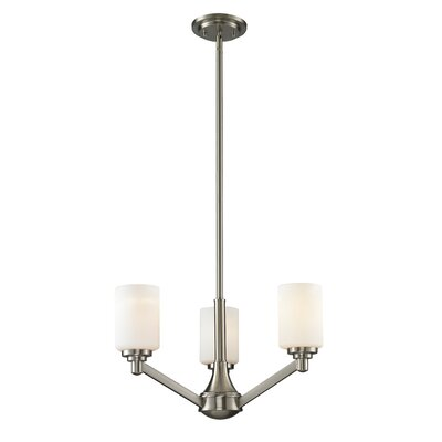 Seeber 3-Light Shaded Chandelier Finish: Brushed Nickel