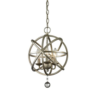 Leonora 3-Light Globe Pendant Base Finish: Antique Silver
