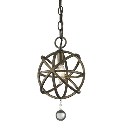 Leonora 1-Light Foyer Pendant Base Finish: Golden Bronze