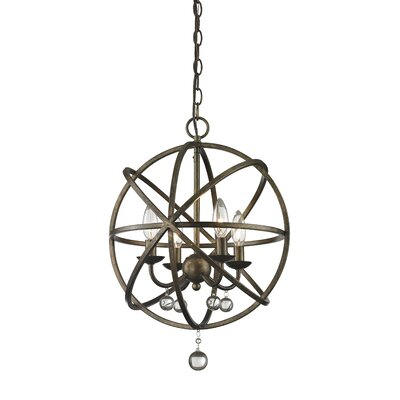 Leonora 4-Light Globe Pendant Base Finish: Golden Bronze