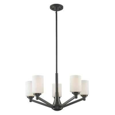 Montego 5-Light Shaded Chandelier Finish: Coppery Bronze