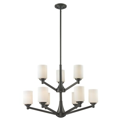 Seeber 9-Light Shaded Chandelier Finish: Coppery Bronze