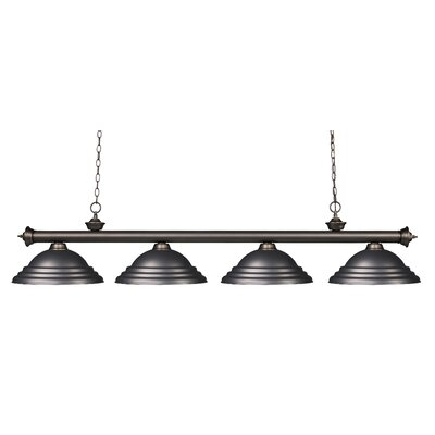 Zephyr 4-Light Metal Shade Kitchen Island Pendant Finish: Olde Bronze, Shade Color: Olde Bronze