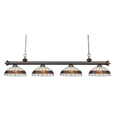 Bristoly 4-Light Kitchen Island Pendant Color: Olde Bronze