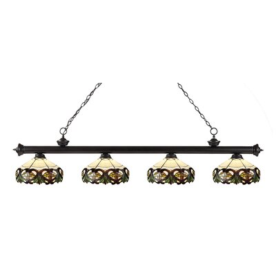 Billington 4-Light Kitchen Island Pendant Color: Bronze