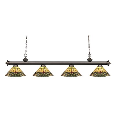 Billington 4-Light Kitchen Island Pendant Color: Olde Bronze