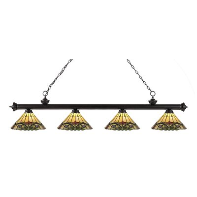 Riviera 4-Light Kitchen Island Pendant Finish: Bronze