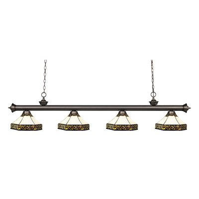 Riviera 4-Light Kitchen Island Pendant Finish: Olde Bronze