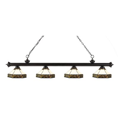 Billington 4-Light Kitchen Island Pendant Finish: Bronze