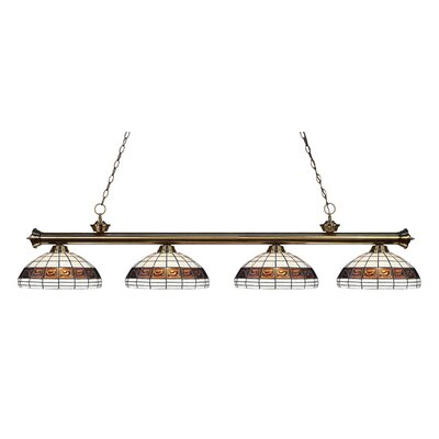 Bristoly 4-Light Kitchen Island Pendant Color: Antique Brass