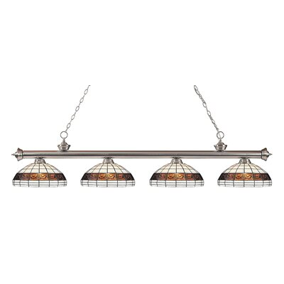 Bristoly 4-Light Kitchen Island Pendant Color: Brushed Nickel