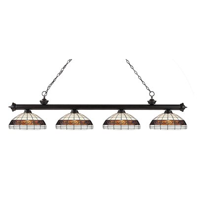 Bristoly 4-Light Kitchen Island Pendant Color: Bronze