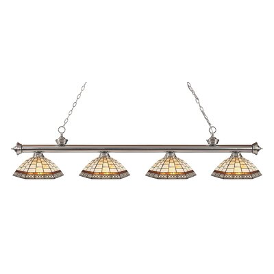 Billington 4-Light Kitchen Island Pendant Color: Brushed Nickel
