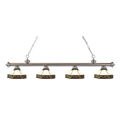 Riviera 4-Light Kitchen Island Pendant Finish: Brushed Nickel