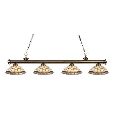 Billington 4-Light Kitchen Island Pendant Finish: Antique Brass
