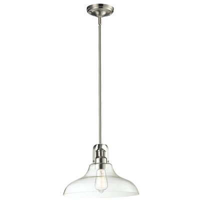 Lindley Contemporary 1-Light Mini Pendant Finish: Brushed Nickel, Size: 9.5 H x 13 W x 13 D