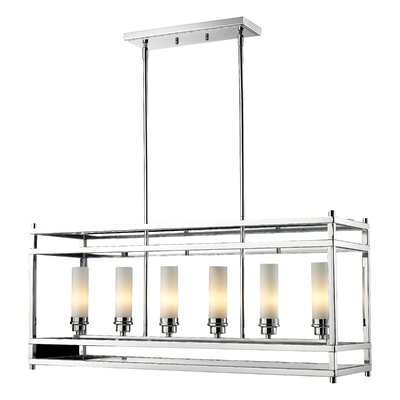 Humiston 6-Light Metal Foyer Pendant Finish: Chrome