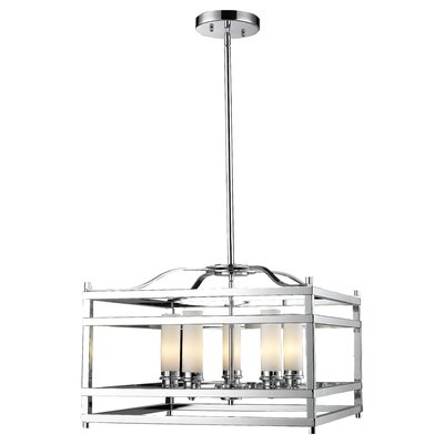 Humiston 5-Light Metal Foyer Pendant Finish: Chrome