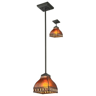 Crimson 1-Light Mini Pendant Shade Color: Amber