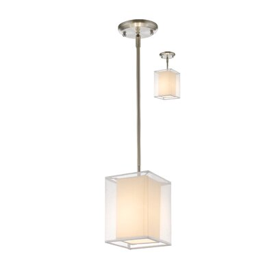 Fleckenstein 1-Light Convertible Mini Pendant Shade Color: White