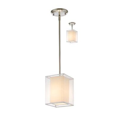Sedona 1-Light Convertible Mini Pendant Shade Color: White