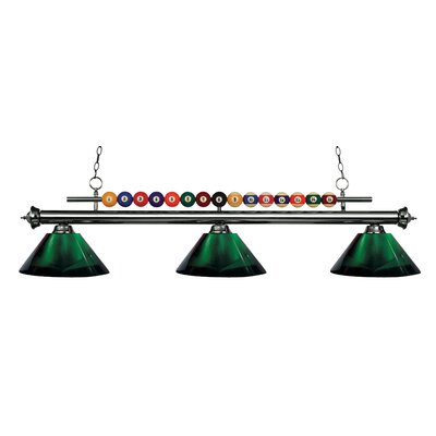 Chapa 3-Light Billiard Light Finish: Gun Metal