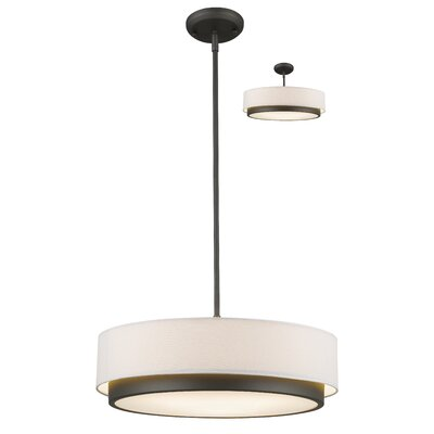 Josue 3-Light Drum Pendant Size: 8 H x 22 W x 22 D