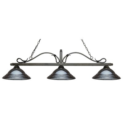 Melrose 3-Light Billiard Light Shade Color: Stepped Gun, Finish: Golden Bronze