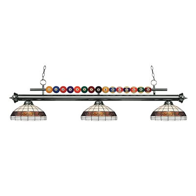 Shark 3-Light Billiard Light Finish: Gun Metal