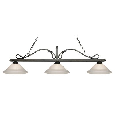 Melrose 3-Light Billiard Light Finish: Golden Bronze
