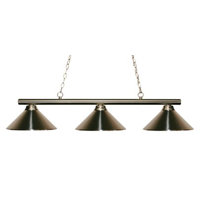 Sharp Shooter 3-Light Kitchen Island Pendant Finish: Matte Black, Shade Color: Matte Black