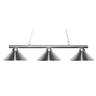 Sharp Shooter 3-Light Kitchen Island Pendant Finish: Chrome, Shade Color: Chrome
