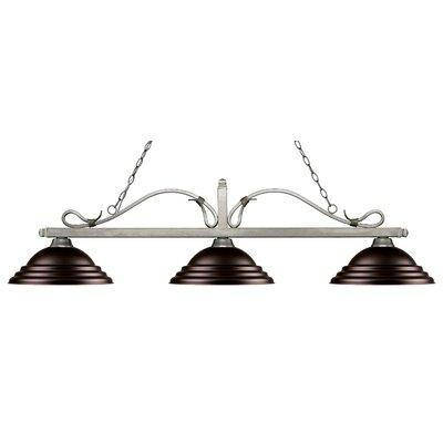 Cendejas 3-Light Billiard Light Shade Color: Stepped Bronze