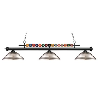 Shark 3-Light Billiard Light Shade Color: Brushed Nickel