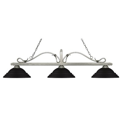 Melrose 3-Light Billiard Light Shade Color: Stepped Matte Black