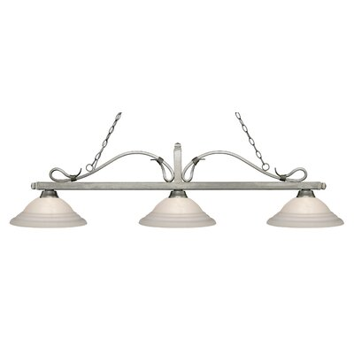 Cendejas 3-Light Billiard Light Finish: Antique Silver