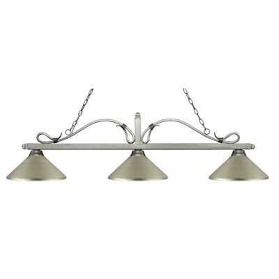 Melrose 3-Light Billiard Light Finish: Antique Silver