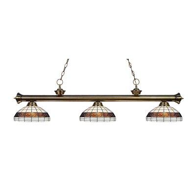 Billington 3-Light Billiard Light Color: Antique Brass