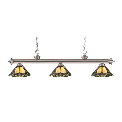 Riviera 3-Light Billiard Light Finish: Brushed Nickel