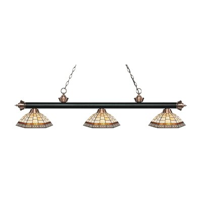 Billington 3-Light Billiard Light Finish: Matte Black / Antique Copper