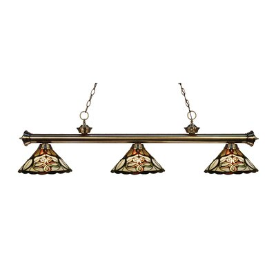 Riviera 3-Light Billiard Light Finish: Antique Brass