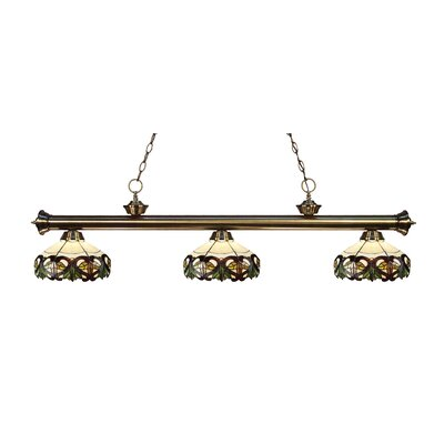 Billington 3-Light Billiard Light Color: Antique Brass