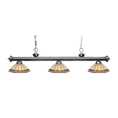 Riviera 3-Light Billiard Light Finish: Gun Metal