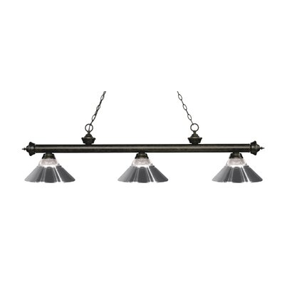 Billington 3-Light Billiard Light Finish: Golden Bronze, Shade Color: Chrome