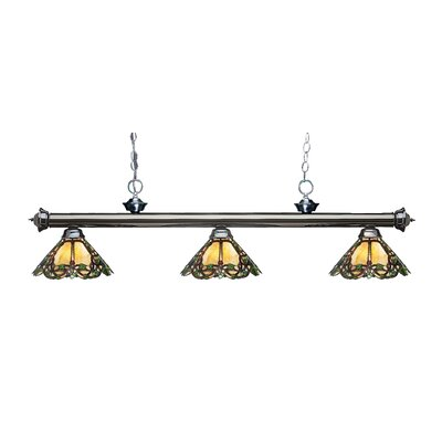 Billington 3-Light Billiard Light Color: Gun Metal