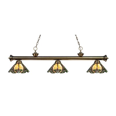 Billington 3-Light Billiard Light Finish: Antique Brass
